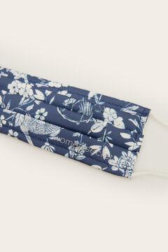 Womensecret Mascarilla higiénica homologada reutilizable azul flores azul