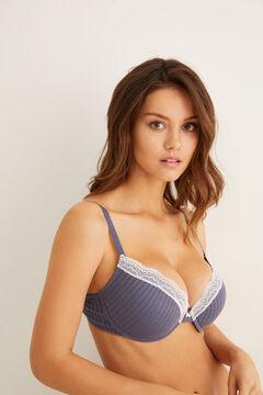 Womensecret Classic textured bra blue