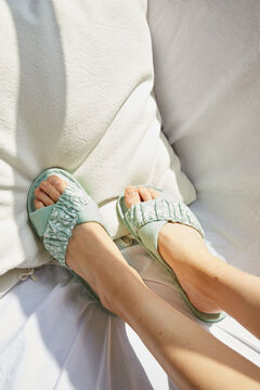 Womensecret Cotton cross strap slippers green