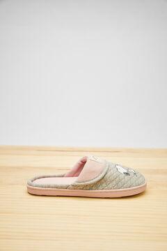 Womensecret Zapatillas destalonadas Snoopy gris beige