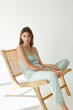 Womensecret Super soft green jersey-knit vest pyjamas green