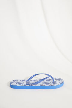 Womensecret Blue Snoopy crab flip-flops set blue