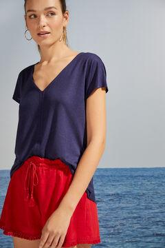 Womensecret T-shirt manches courtes maille bleu bleu