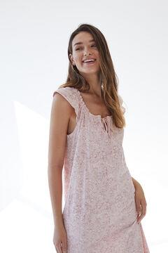 Womensecret Printed organic cotton short nightgown pink