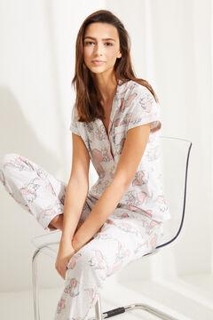Womensecret Pijama camisero Capri Dumbo gris gris