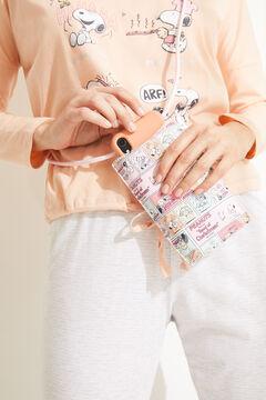 Womensecret Funda móvil y cordón Snoopy rosa