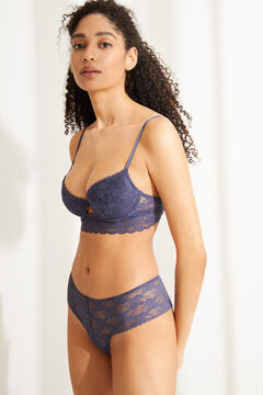 Womensecret BEAUTIFUL Classic blue lace padded bra blue