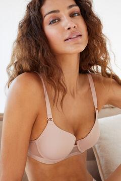 Womensecret Classic nude microfibre tulle heat-sealed padded bra nude