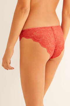 Womensecret Classic terracotta lace panty red