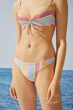 Womensecret String bikini rayures  blanc