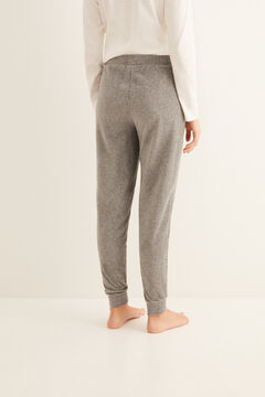Womensecret Long grey micro-corduroy bottoms grey
