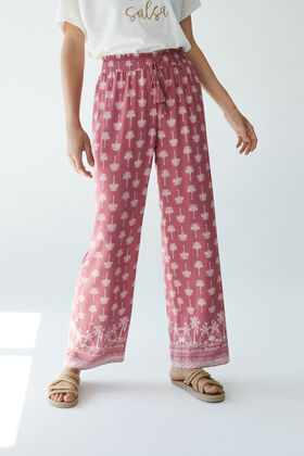 Womensecret Palm tree long trousers pink