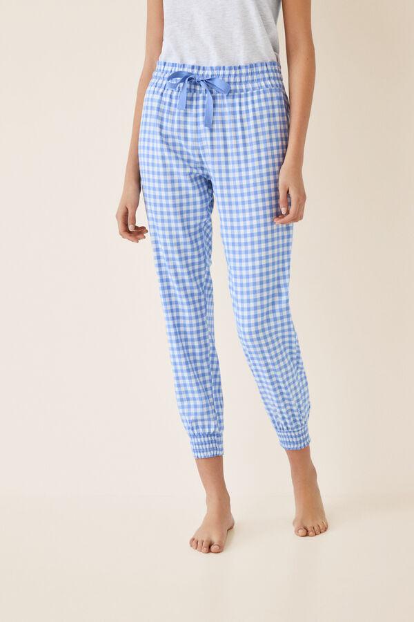 0ccc65187d Womensecret Pantalón pijama capri cuadros vichy azul