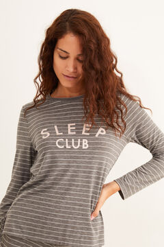 Womensecret Long grey striped pyjamas grey
