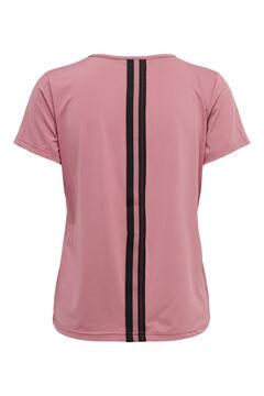 Womensecret Camiseta entrenamiento escote V rosa