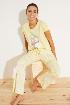 Womensecret Long yellow 100% cotton pyjamas green