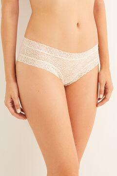 Womensecret Lace boyshort Brazilian panty printed