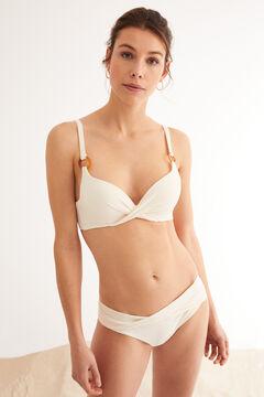 Womensecret Bikini Top Push-Up überkreuzter Ausschnitt Weiß
