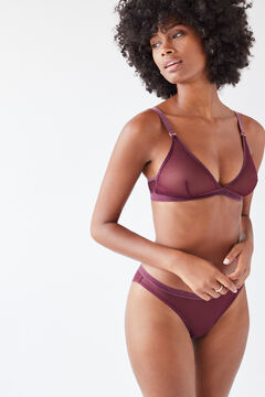 Womensecret Classic burgundy tulle panty red