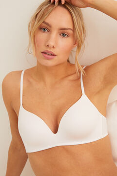 Womensecret UNIQUE Sujetador triangular push up blanco