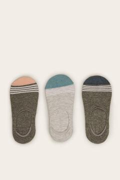 Womensecret Pack 3 meias invisível impressão