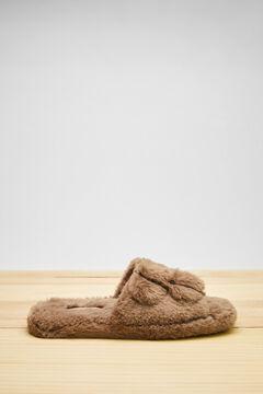 Womensecret Zapatillas abierta marrón nude