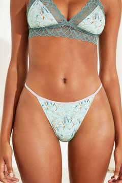 Womensecret Green lace Brazilian panty blue
