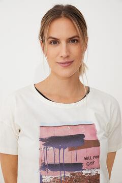 Womensecret Camiseta de manga corta blanco