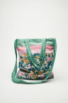 Womensecret Serviette florale sac coton rose