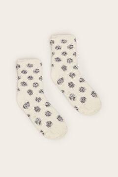 Womensecret Non-slip cosy ankle socks polka dots  white