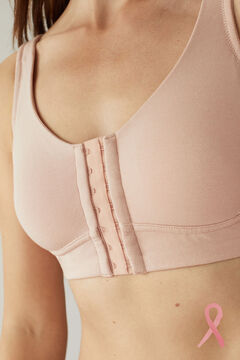 Womensecret NATURAL Post-Surgery bra with fasteners pink