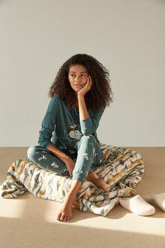 Womensecret Pijama verde Snoopy 100% algodão verde