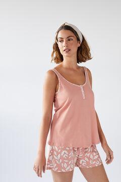 Womensecret Short organic cotton vest pyjamas pink