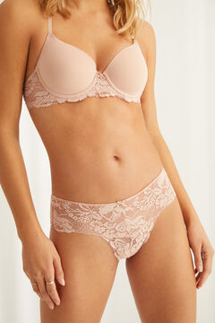 Womensecret Pink lace full panty pink