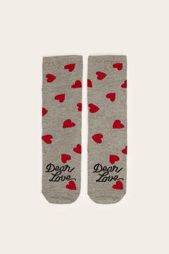 Womensecret Printed ankle socks grey