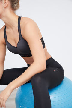 Womensecret Soutien desportivo roupa de ginástica costas cinzento