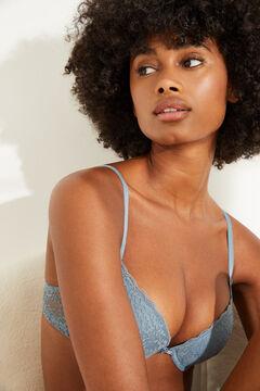 Womensecret GORGEOUS Blue lace push-up bra blue