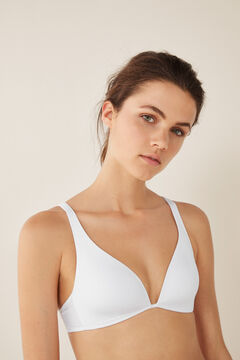 Womensecret Soutien-gorge triangle multi-positions blanc