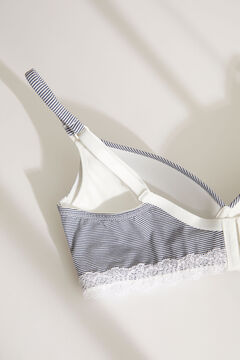 Womensecret LOVELY Blue striped triangle Maternity bra nude