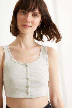 Womensecret Grey halterneck seam-free strappy top grey