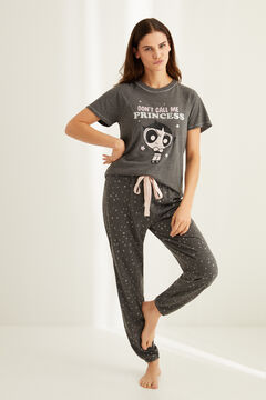 Womensecret Short-sleeved cotton Cactus pyjamas grey