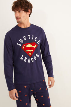 Womensecret Pyjama long homme Justice League gris