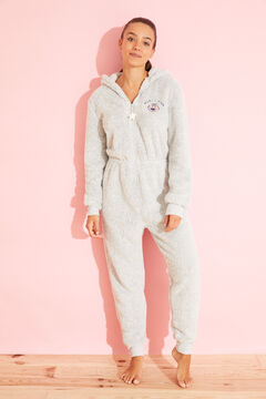 Womensecret Grey fleece Grover onesie grey
