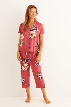 Womensecret Pijama camisero largo Capri rosa