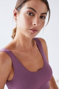 Womensecret Burgundy seam-free bra top red