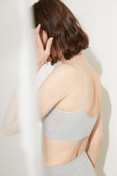 Womensecret Haut dos nu sans coutures gris bonnets amovibles gris