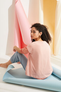 Womensecret Camiseta manga corta algodón rosa rosa