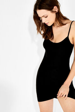 Womensecret Short slip dress preto