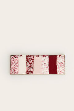 Womensecret 7er-Pack Panties-Slips Baumwolle Blumen mit Print