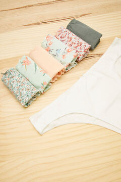 Womensecret 7-pack green printed cotton Brazilian panties green